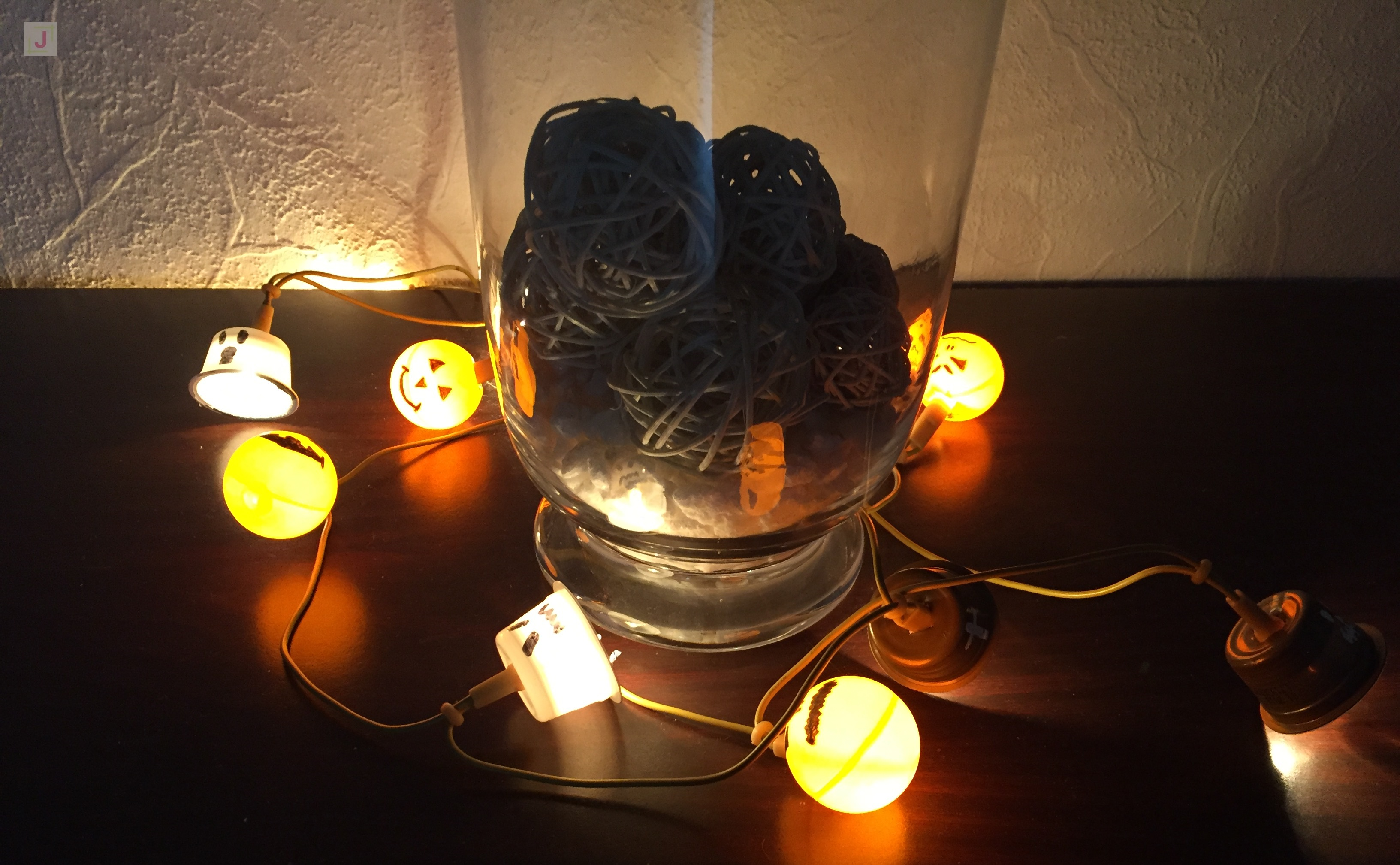 Diy Halloween String Lights : DIY Halloween string lights